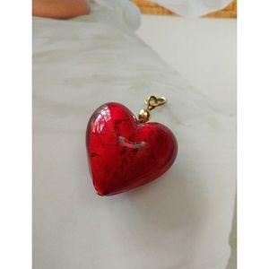 Milano glass heart pendant